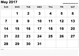 May 2017 Printable Calendar Templates - Printable Calendar Pro