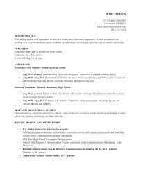 Objective For High School Resumes Objective For High School Resume Familycourt Us