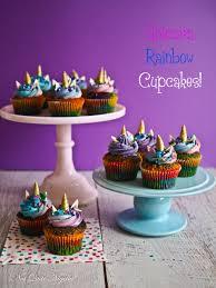 Rainbow Unicorn Cupcakes At Not Quite Nigella