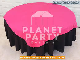 black round tablecloth with overlay 004