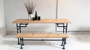 Iron Wood Dining Table Kitchen Homemade Modern Episode 3 Diy Wood Iron Table Youtube
