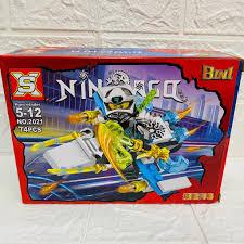 Đồ chơi xếp hình non lego Ninjago SX 2021 trọn bộ 8 hộp cỡ trung lắp ráp  máy bay Ninja Minifigures Okino Season phần 12 chính hãng 250,000đ