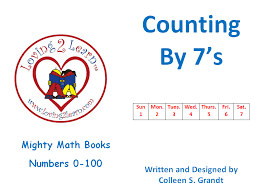 Counting By Sevens Chart Printable Skip Counting By 7s Book Chart And Learning Video