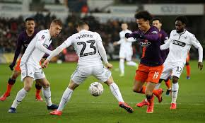 Manchester city will look to win a 15th successive match across all competitions when they head to swansea city in the fa cup on wednesday night. Swansea Vs Manchester City Live Score Lineups And Updates Fa Cup Quarter Final Daily Mail Online