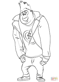 Johnny Gorilla from Sing coloring page | Free Printable Coloring Pages