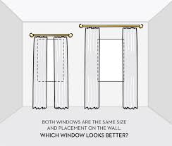 curtains should be placed properly to make the window look wider and the room taller