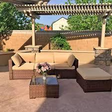 patiorama 5pc outdoor patio furniture