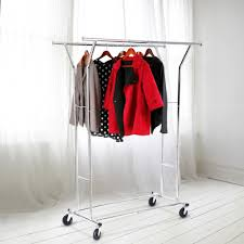 Gallery of astounding rolling hanging clothes rack