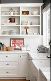 white cottage kitchens. Kitchen Inspiration Open Cabinets Marble Counters White Cottage Kitchens H
