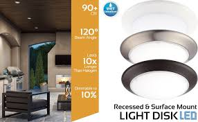 led disk light makes it easy to upgrade your existing lighting to energy efficient led technology it can be installed in an existing 4 in recessed can or