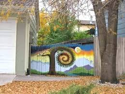 painted fences murals fence painting ideas gorgeous privacy mural doing a on my p10