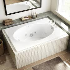 jacuzzi primo 60 in white acrylic oval in rectangle reversible drain whirlpool tub