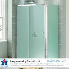 tempered frosted acid etched glass panels for bathroom door