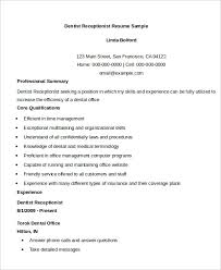 dentist receptionist resume sample samples of receptionist resumes