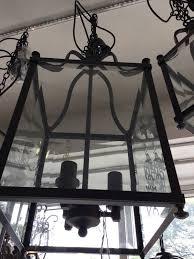 large black art deco lantern french country pendant 4 light chandelier vintage