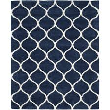 safavieh hudson hathaway navy ivory indoor moroccan area rug common 11 x