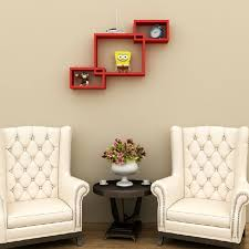 intersecting square cube floating wall shelves