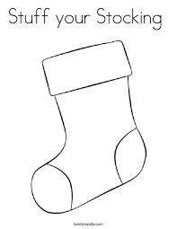 Small Picture Stuff your Stocking Coloring Page Twisty Noodle