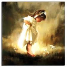 unframed canvas painting baby girl classic oil painting on canvas wall art picture canvas art cheap on little girl canvas wall art with unframed canvas painting baby girl classic oil painting on canvas