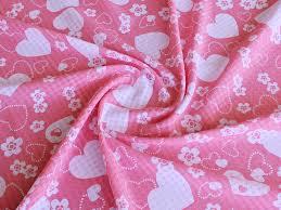 Шифон <b>клеточка сердечки</b>, розовые на белом - купить в ...