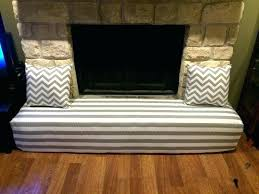 diy fireplace cover baby proofing fireplace fireplace cover child proofing the stone hearth gray and white