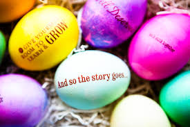 Easter Eggs With Words All Sparkled Up