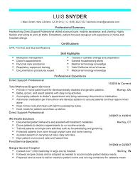 Direct Support Professional Resume Sample