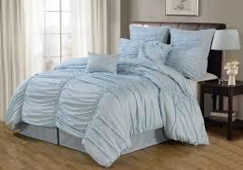 comforter sets thin comforter sets light blue duvet sets ruched fabric comforter scalloped pale blue