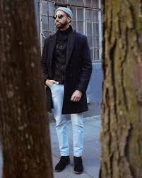 Chelsea boots sind klassiker, die sich vielseitig kombinieren lassen. Light Blue Jeans With Chelsea Boots Winter Outfits For Men In Their 30s 4 Ideas Outfits Lookastic