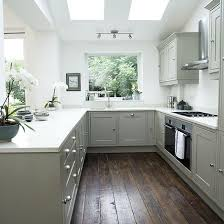 White Shaker-style kitchen with grey units | Kitchen decorating | Ideal  Home | housetohome