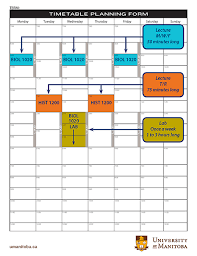 University Timetable Maker University Of Manitoba Student Affairs Registrars