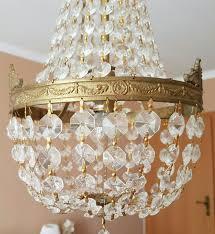 Kronleuchter Lüster Gold Vintage