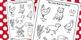 Small Picture The Little Red Hen Colouring Sheets Little Red Hen Colour