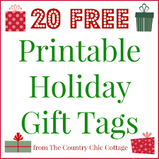 20 Printable Holiday Gift Tags For Free The Country