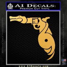 florida gators s hurricanes d1 decal sticker gold vinyl