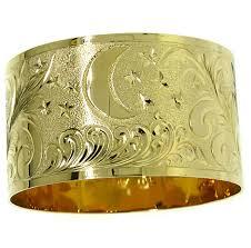 14k gold hawaiian heirloom bangle bracelet 28mm up gbc3846h