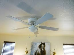small room all you saw was ceiling fan i changed it out for what they call a low profile white ceiling hugger this makes such a big difference