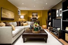 decoration small modern living room furniture. Small Living Room Decorating Ideas Be Equipped White L Shaped Sofa And Leather Ottoman Coffee Table Plus Carpet Or Rug Then TV Stands Also Candle Holders Decoration Modern Furniture S