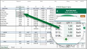 Stack Report Sync Construction Estimate Template For Excel