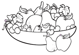 Autumn Fruits Coloring Page Free Printable Pages And Fruit Viettiinfo