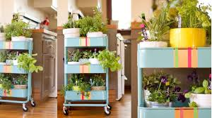 Small Picture Hack A Kitchen Cart Into A Rolling Herb Garden Lifehacker Australia