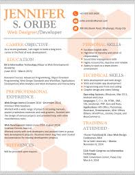 resume templates you can download   jobstreet philippinesresume template
