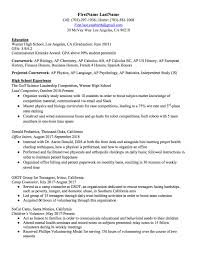 How To Make A Resume For A High School Student High School Resume How To Write The Best One Templates