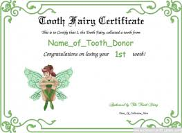 parenting certificate templates free tooth fairy template parenting kids dentist fairy