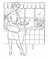 Small Picture Thanksgiving Dinner Coloring Page Sheets Mom baked an apple pie