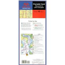 Champlain Canal Waterproof Chart By Maptech Wpc048