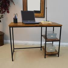 rustic home office furniture. Brayden Chestnut Desk With Shelves Rustic Home Office Furniture E