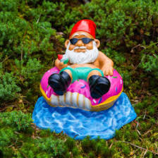 cheap garden gnomes. The Donut Worry Be Happy Garden Gnome Cheap Gnomes