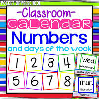 Calendar Numbers For Pocket Chart How To Make And Implement A Linear Calendar Pocket Of