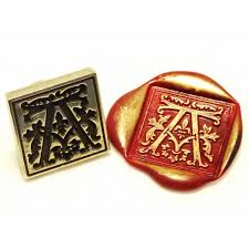 gothic letter wax seal stamps